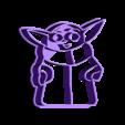 cookie-3Demon__Smiling-Yoda-Mandalorian-simple.stl Download STL file Yoda Baby Cookie Cutter Mandalorian • 3D printer design, 3D-mon