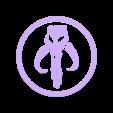 boba_fett_top.stl Télécharger fichier STL gratuit Dessous de verre Boba Fett • Plan imprimable en 3D, snagman