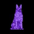 Pastor_aleman.stl Télécharger fichier STL gratuit Chien de berger d'Europe de l'Est (allemand) ( remix challenge ) • Modèle imprimable en 3D, Boris3dStudio