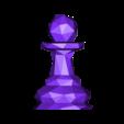 Pawn.obj Download free OBJ file Chess Set LowPoly  • Model to 3D print, MarProZ_3D