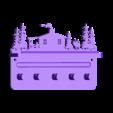 Cabin_moose_screw_holes.stl Télécharger fichier STL gratuit Porte-clés • Design pour imprimante 3D, snagman