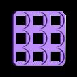 3x3.stl Télécharger fichier STL gratuit 18650 Porte-piles (5x5/4x4/3x3/2x2/1x1) • Plan à imprimer en 3D, tylerebowers