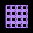 4x4.stl Télécharger fichier STL gratuit 18650 Porte-piles (5x5/4x4/3x3/2x2/1x1) • Plan à imprimer en 3D, tylerebowers
