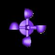 windspeed12-spinner-for-bearing-spindle.stl Télécharger fichier STL gratuit Indicateur de vitesse du vent - Anémomètre V2.0 • Design à imprimer en 3D, shermluge