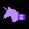 Support_Licorne_-_part_1.STL Download STL file Support de canne Licorne - Unicorn rod holder • 3D print design, ZebOctets