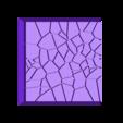 Cracked_Paving_25mm_4.stl Télécharger fichier STL gratuit Dallage fissuré / Bases carrées à effet de lave pour la saga Dungeon, Kingd of war, Warhammer fantasy battle etc • Objet imprimable en 3D, redstarkits