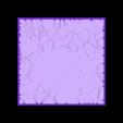 Cracked_paving_75mm_square_2.stl Télécharger fichier STL gratuit Dallage fissuré / Bases carrées à effet de lave pour la saga Dungeon, Kingd of war, Warhammer fantasy battle etc • Objet imprimable en 3D, redstarkits