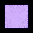 Cracked_paving_75mm_square_5.stl Télécharger fichier STL gratuit Dallage fissuré / Bases carrées à effet de lave pour la saga Dungeon, Kingd of war, Warhammer fantasy battle etc • Objet imprimable en 3D, redstarkits