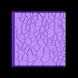Cracked_Paving_50mm_2.stl Télécharger fichier STL gratuit Dallage fissuré / Bases carrées à effet de lave pour la saga Dungeon, Kingd of war, Warhammer fantasy battle etc • Objet imprimable en 3D, redstarkits