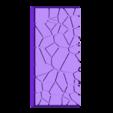 Cracked_paving__25mm___50mm_rectangle_2.stl Télécharger fichier STL gratuit Dallage fissuré / Bases carrées à effet de lave pour la saga Dungeon, Kingd of war, Warhammer fantasy battle etc • Objet imprimable en 3D, redstarkits