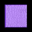 Cracked_paving_75mm_square_4.stl Télécharger fichier STL gratuit Dallage fissuré / Bases carrées à effet de lave pour la saga Dungeon, Kingd of war, Warhammer fantasy battle etc • Objet imprimable en 3D, redstarkits