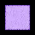 Cracked_paving_75mm_square_3.stl Télécharger fichier STL gratuit Dallage fissuré / Bases carrées à effet de lave pour la saga Dungeon, Kingd of war, Warhammer fantasy battle etc • Objet imprimable en 3D, redstarkits