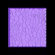 Cracked_Paving__80mm_square_4.stl Télécharger fichier STL gratuit Dallage fissuré / Bases carrées à effet de lave pour la saga Dungeon, Kingd of war, Warhammer fantasy battle etc • Objet imprimable en 3D, redstarkits