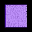 Cracked_paving_75mm_square_1.stl Télécharger fichier STL gratuit Dallage fissuré / Bases carrées à effet de lave pour la saga Dungeon, Kingd of war, Warhammer fantasy battle etc • Objet imprimable en 3D, redstarkits