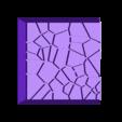 Cracked_Paving__20mm_square_5.stl Télécharger fichier STL gratuit Dallage fissuré / Bases carrées à effet de lave pour la saga Dungeon, Kingd of war, Warhammer fantasy battle etc • Objet imprimable en 3D, redstarkits