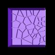 Cracked_Paving__20mm_square_2.stl Télécharger fichier STL gratuit Dallage fissuré / Bases carrées à effet de lave pour la saga Dungeon, Kingd of war, Warhammer fantasy battle etc • Objet imprimable en 3D, redstarkits