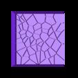 Cracked_Paving_25mm_2.stl Télécharger fichier STL gratuit Dallage fissuré / Bases carrées à effet de lave pour la saga Dungeon, Kingd of war, Warhammer fantasy battle etc • Objet imprimable en 3D, redstarkits