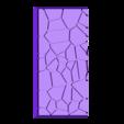 Cracked_paving__25mm___50mm_rectangle_4.stl Télécharger fichier STL gratuit Dallage fissuré / Bases carrées à effet de lave pour la saga Dungeon, Kingd of war, Warhammer fantasy battle etc • Objet imprimable en 3D, redstarkits