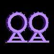 Fixed_Pipe_support_halved.stl Télécharger fichier STL gratuit Sci-fi Réseau de tuyaux modulaire pour les paysages de wargaming • Objet à imprimer en 3D, redstarkits
