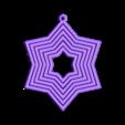 star_ornament_02.stl Télécharger fichier STL gratuit Ornement à six étoiles pivotantes • Plan pour impression 3D, MarcoAlici