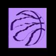 Raptors_New_Logo-2.stl Download free STL file Toronto Raptors Basketball Logo • Template to 3D print, makerwiz