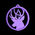 AnnikaDear_solid.stl Download free STL file Deer - Christmas ornament • 3D print object, fusefactory