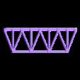 Bridge Half.stl Download free STL file HO Scale Warren Truss Bridge 7.5 Inches • Model to 3D print, kabrumble