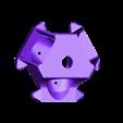 cage_vis_v5.stl Télécharger fichier STL gratuit Hotend E3D v6 léger pour kossel anycubic (version filetée) • Modèle pour imprimante 3D, aleph34