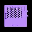 2-RPi3_Case_PowerFront_Lid_v1.stl Télécharger fichier STL gratuit Affaire Framboise Pi 3 pour montage mural • Design pour impression 3D, RT3DWorkshop