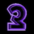 3-Three.stl Télécharger fichier STL gratuit Numéros de Play-Doh/Cookie Cutters • Plan imprimable en 3D, RT3DWorkshop