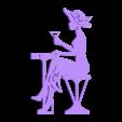 lady_in_a_cafe.stl Télécharger fichier STL gratuit Porte-serviette Lady dans un café • Plan à imprimer en 3D, TanyaAkinora