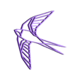 geometric bird.stl Télécharger fichier STL gratuit Figure géométrique d'oiseau • Plan pour impression 3D, delfinaifran
