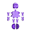 Rosie_Jetson.stl Download free STL file Rosie the Robot Maid - Jetsons - Klicket Compatible • 3D print object, gotbits
