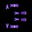 Klicket_Bony_-_hands_feet.stl Télécharger fichier STL gratuit Klicket Add-ons, Claws and Bones • Objet pour imprimante 3D, gotbits