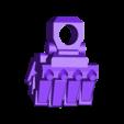 1-100th Defender Layout-HighRez-LeftFist.stl Télécharger fichier STL gratuit 1/100e de l'échelle Defender Mech • Design pour imprimante 3D, johnbearross