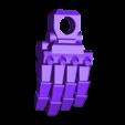 1-100th Defender Layout-HighRez-LeftOpenHand.stl Télécharger fichier STL gratuit 1/100e de l'échelle Defender Mech • Design pour imprimante 3D, johnbearross