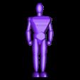1-100th Defender Layout-HighRez-ReferenceHumanFigure.stl Télécharger fichier STL gratuit 1/100e de l'échelle Defender Mech • Design pour imprimante 3D, johnbearross