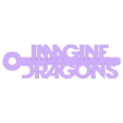 Imagine_Dragons_Logo_Keychain_MCKO.stl Télécharger fichier STL gratuit Porte-clés avec le logo de Imagine Dragons • Design à imprimer en 3D, mcko