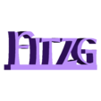 Fitzgerald_left_Fitzg.stl Download free STL file Fitzgerald Name Sign / Nameplate • 3D printer object, gient