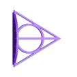Deathly_Hallows_5_wand_holder.stl Download free STL file Harry Potter Wall-Mounted 5-Wand Holder • Object to 3D print, AbuMaia