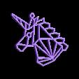 Unicornio Final.stl Télécharger fichier STL gratuit Pendentif de licorne • Modèle imprimable en 3D, InnovaPro