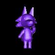 skye5.obj Download free OBJ file Animal Crossing Wolf • 3D printer design, skelei