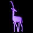Gazelle.stl Télécharger fichier STL gratuit Statue décorative d'une gazelle • Plan imprimable en 3D, pablobotia3dartist