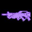One_part_ALEPH.stl Télécharger fichier STL gratuit Le fusil combiné Aleph inspiré par l'infini • Design imprimable en 3D, manukrafter