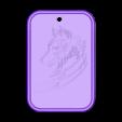 llavero lobo.stl Descargar archivo STL gratis llavero lobo • Modelo para la impresora 3D, amilkarsp