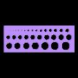 Holes - Size Circle.stl Download free STL file Holes - Size Circle • 3D printable template, LaythJawad