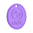 DAL_tag_oval.stl Download free STL file Animal Crossing Dodo Airlines Keychains • 3D printing model, Sunballer