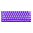 60percent.stl Download free SCAD file Parametric Cherry MX/Alps Keycap for Mechanical Keyboards • 3D printable object, rsheldiii