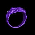 zombie  ring 21mm.stl Télécharger fichier STL gratuit Anneau de crâne de zombie • Objet pour imprimante 3D, LittleTup
