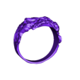 zombie  ring 21mm.stl Download free STL file Zombie Skull Ring • 3D printer model, LittleTup